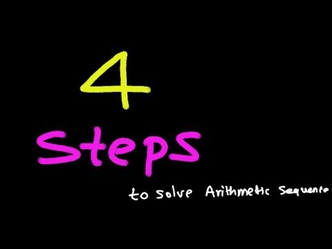 4 Steps to Solve Any Arithmetic Sequence Question