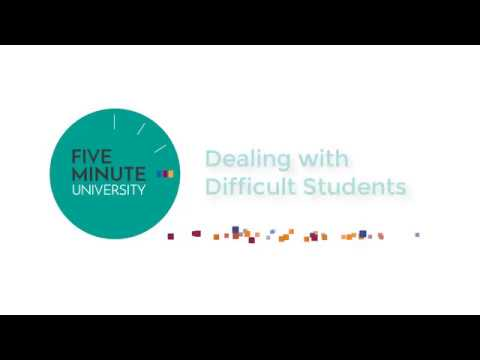 Lesson 1: Dealing with Difficult Students - Year 2