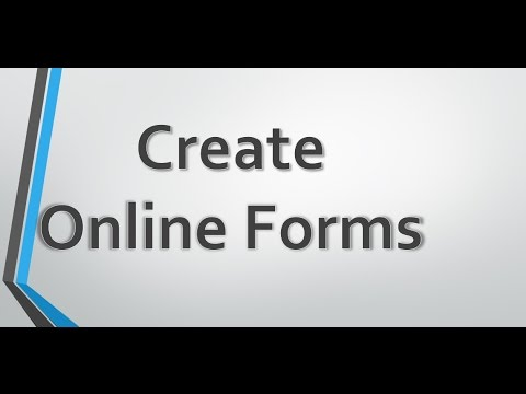 Create Online Forms