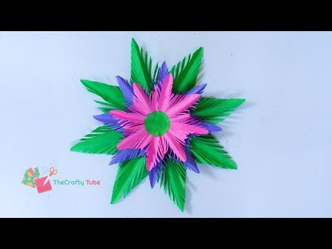 Paper Snowflake - Christmas Decoration - How to make Paper Snowflake -  X-mas - DIY