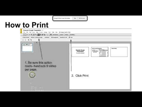 How to print Google Presentation as Flashcards