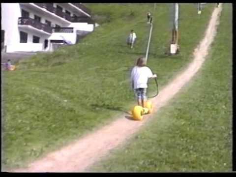 Trottin'Herbe et ski sur herbe aux Gets dans les années 90