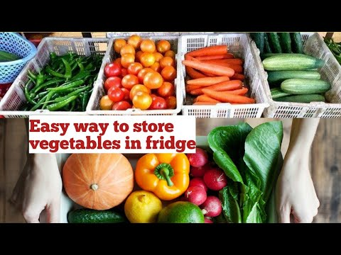 How to store vegetables for long time|store vegetables in fridge