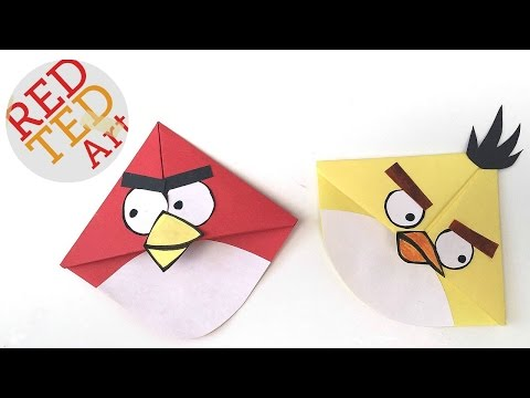 Angry Birds Crafts - Easy Bookmark Corners with Michelle's Cuties - Angry Bird Bookmark