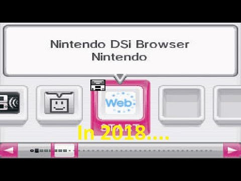 Using the Nintendo Dsi browser in 2018.