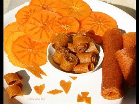 Persimmon Fruit Rollups & Chips - Diospyros Kaki: Fuyu  & Hachiya