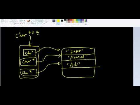 Dynamic 2D char arrays - solved example