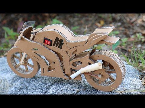 How To Make Toy Motorcycle(Ninja ZX -10R) - Amazing Cardboard DIY