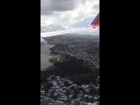 Landing of the first Southwest flight to San Juan, Puerto Rico