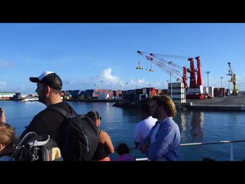 March 4, 2018 ~ Terevau Ferry bound for Moorea leaving Papeete