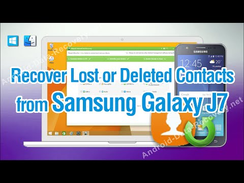 How to Recover Lost or Deleted Contacts from Samsung Galaxy J7 Easily