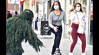 Beautiful and Scared | Bushman Prank | Funny Reactions