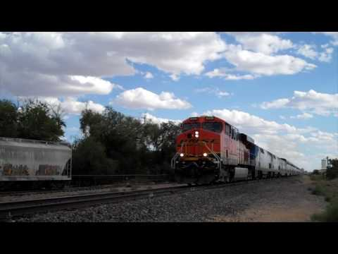Amtrak SC-44 Charger Train & Amtrak Southwest Chief with BNSF GEVO Leader 7/14/17