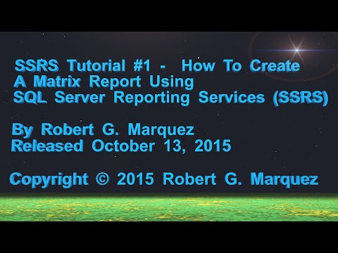 Tutorial - Create A Matrix Report With SSRS and Visual Studio