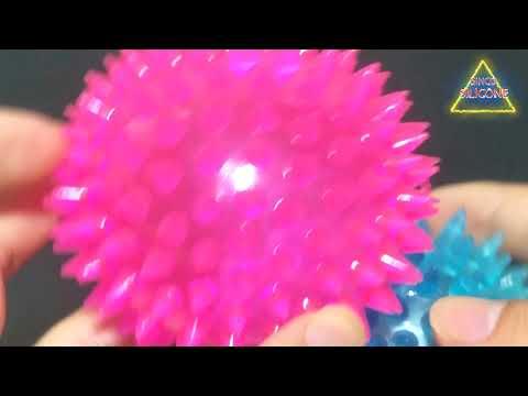 Puppy Dog Cat Rubber Hedgehog Ball Bell Sound Luminous Ball
