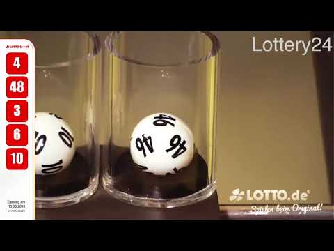 2018 06 13 German lotto 6 aus 49 numbers and draw results