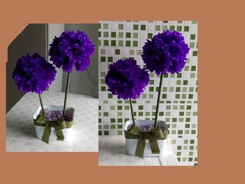Flor de papel fácil,how to make tissue flower paper,diy paper craft,