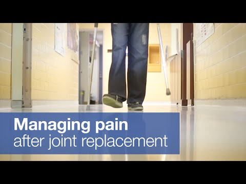 Managing pain after hip or knee replacement