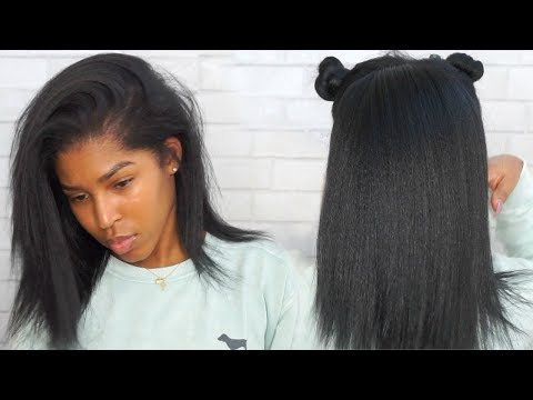 Updated Wash, Blow Dry And Flat Iron Routine! Natural Hair ft. Dark and Lovely