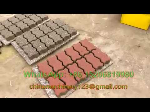GiantLin QT4-30 diesel power hydraulic interlocking paving block making machine for zigzag pavers