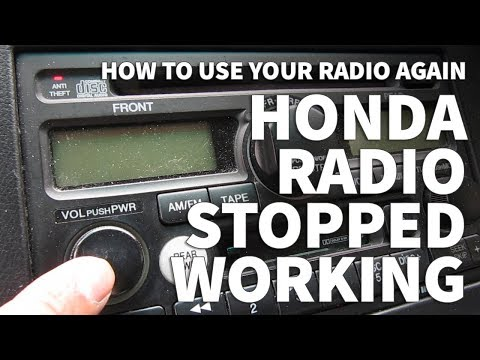 Honda Odyssey Radio Stopped Working – Anti Theft Light Still Blinking and Radio Won't Turn On