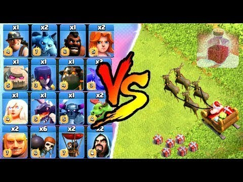 Santa's Surprise Spell vs All Troops Clash of Clans Winter Update Christmas 2017 | Thang COC