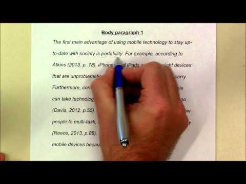 How to write a body paragraph