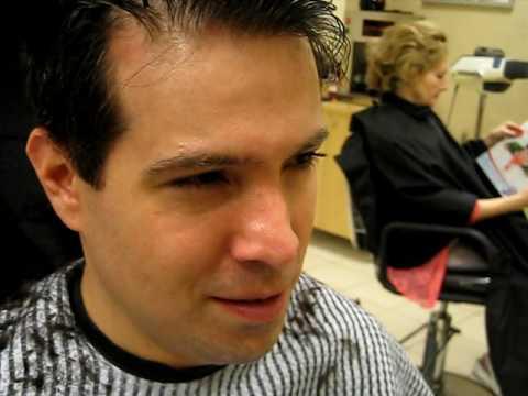 John getting a haircut