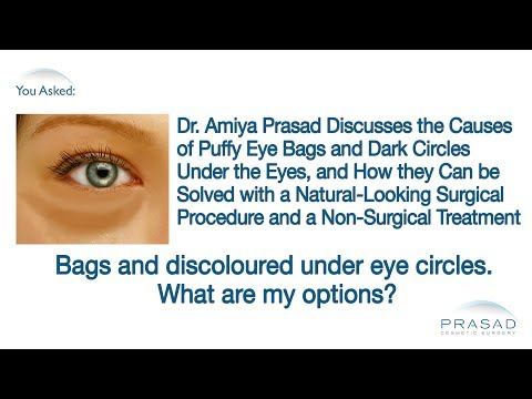The Causes of Puffy Eye Bags & Dark Circles, & How they Are Addressed Separately