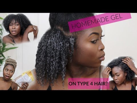 LOL I WAS NOT EXPECTING THIS!! TRYING HOMEMADE FLAXSEED GEL ON TYPE 4 HAIR