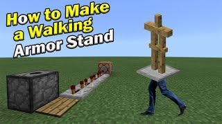 How to Make a WALKING ARMOR STAND | Minecraft PE