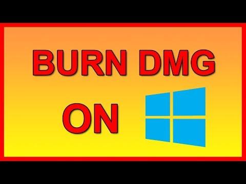 How to burn DMG image file in Windows 10 - Tutorial