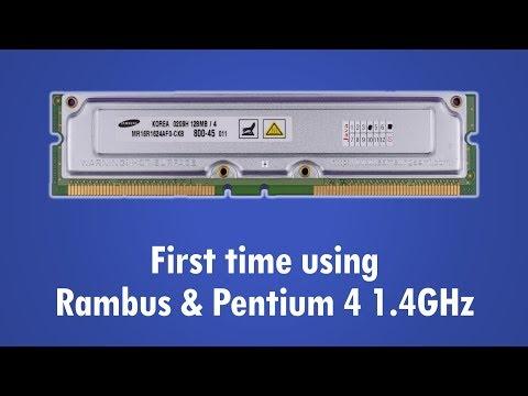 Rambus RDRAM Pentium 4 1.4 GHz vs Pentium III