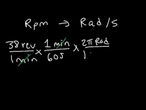 How To Convert From RPM to Rad s or Revolutions Per Minute to Radians Per Second
