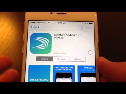 SwiftKey Alternative Keyboard Setup - iPhone 6 Plus