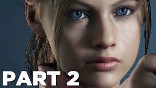 RESIDENT EVIL 2 REMAKE Walkthrough Gameplay Part 2 - CLAIRE (RE2 LEON)