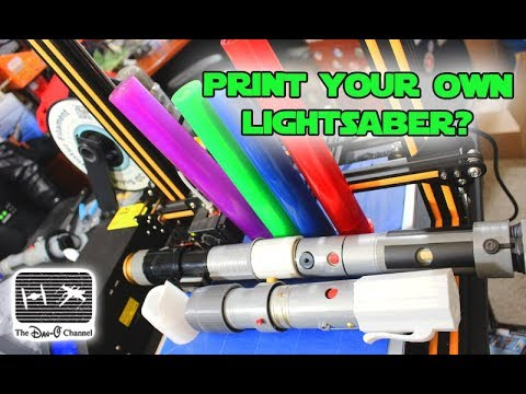 Star Wars   Build your own Lightsaber Custom Printed Pieces   Creality CR-10 3d Printer Review