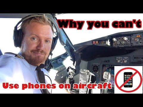 Why you can't use phones on aircraft