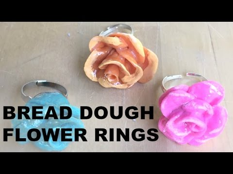Bread Dough Flower Rings || Crafty Chica