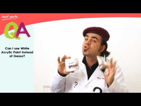 Can I use White Acrylic instead of Gesso? Q&A by Mont Marte