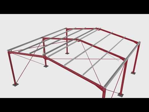 Steel portal frame building construction