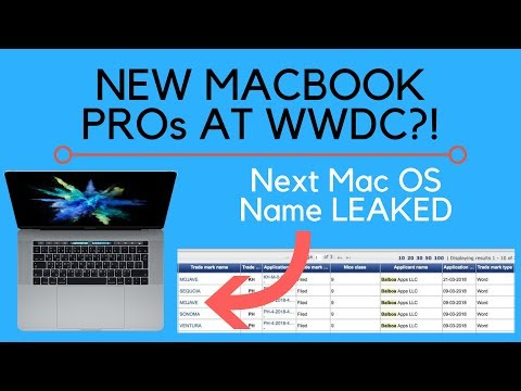 New MacBook Pro at WWDC 2018 + Mac OS 10.14 Name LEAKED