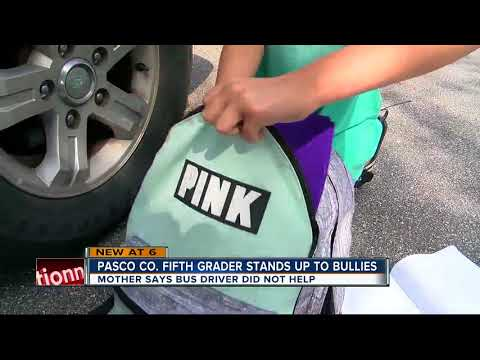 Florida 5th grader stands up to school bus bullies