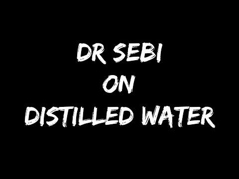 DR SEBI ON WATER - IS DISTILLED WATER GOOD?!