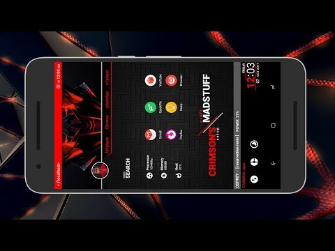 Crimson Setup - Red & Black Nova Launcher Setup