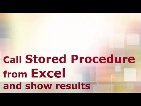 Call Stored Procedure from Excel and show results