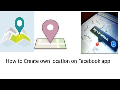How to create your own location on facebook...