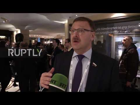 Germany: Russia's Kosachev laments 'contradictions' in US approach to Russia
