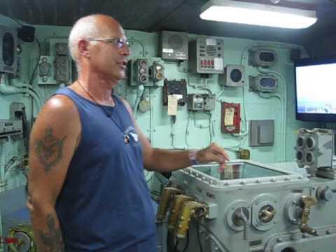 Gene Bernhardt gun control area USS Missouri plankowner as Boiler Tech