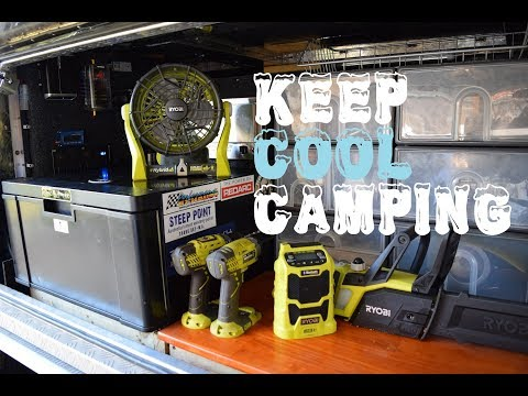 How to keep cool while camping - Ryobi One+ Fan Review